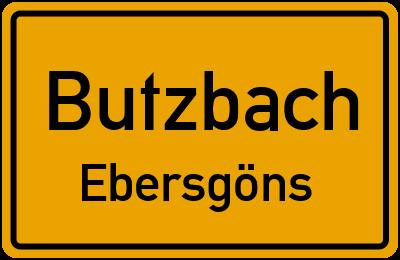 Ortsschild Butzbach Ebersgöns