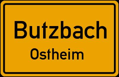 Ortsschild Butzbach Ostheim