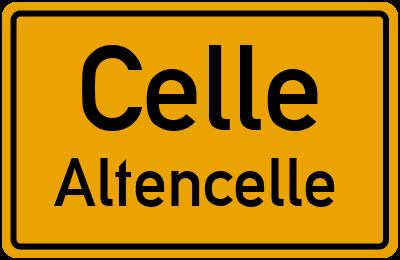 Ortsschild Celle Altencelle