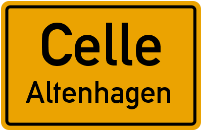 Ortsschild Celle Altenhagen