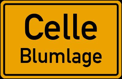 Ortsschild Celle Blumlage
