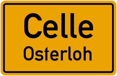 Ortsschild Celle Osterloh