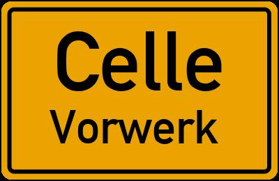Ortsschild Celle Vorwerk
