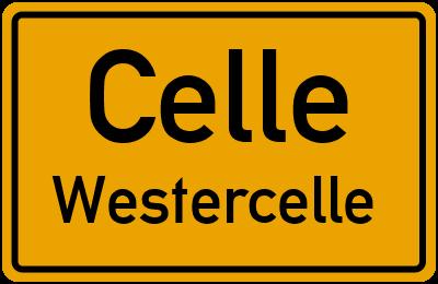 Ortsschild Celle Westercelle
