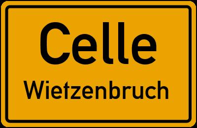 Ortsschild Celle Wietzenbruch
