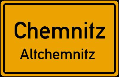 Altchemnitzer Straße in ChemnitzAltchemnitz