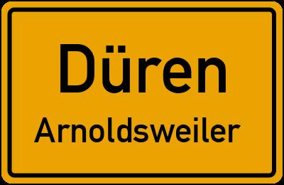 Ortsschild Düren Arnoldsweiler