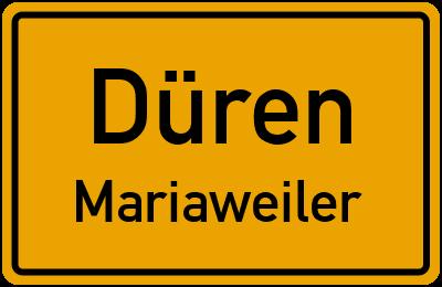 Ortsschild Düren Mariaweiler