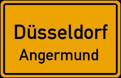 Ortsschild Düsseldorf Angermund