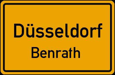 Ortsschild Düsseldorf Benrath