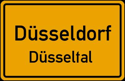Ortsschild Düsseldorf Düsseltal