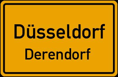 Ortsschild Düsseldorf Derendorf