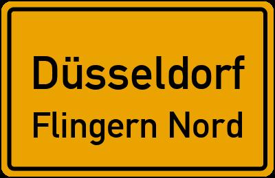 Ortsschild Düsseldorf Flingern Nord