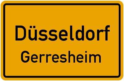 Straßenverzeichnis Düsseldorf Gerresheim
