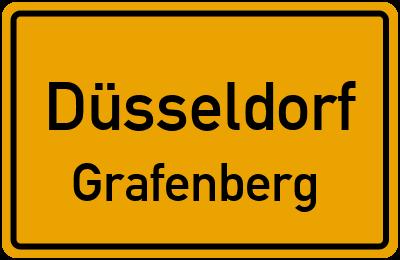 Ortsschild Düsseldorf Grafenberg