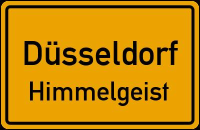 Ortsschild Düsseldorf Himmelgeist