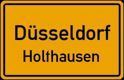 Ortsschild Düsseldorf Holthausen
