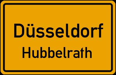 Ortsschild Düsseldorf Hubbelrath