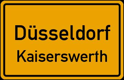 Ortsschild Düsseldorf Kaiserswerth