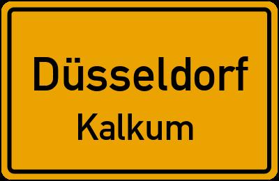 Ortsschild Düsseldorf Kalkum