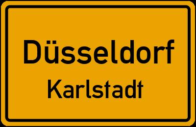 Straßenverzeichnis Düsseldorf Karlstadt