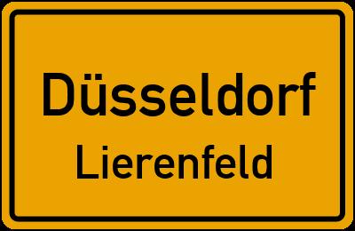 Ortsschild Düsseldorf Lierenfeld