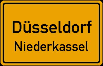 Ortsschild Düsseldorf Niederkassel