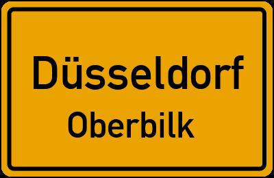 Ortsschild Düsseldorf Oberbilk