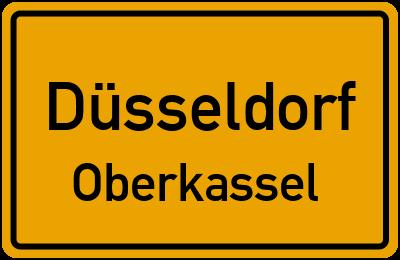 Ortsschild Düsseldorf Oberkassel