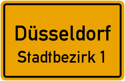 Straßenverzeichnis Düsseldorf Stadtbezirk 1