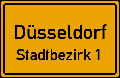 Am Bonneshof in DüsseldorfStadtbezirk 1
