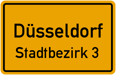 Uedesheimer Straße in DüsseldorfStadtbezirk 3
