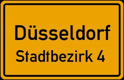 Ortsschild Düsseldorf Stadtbezirk 4