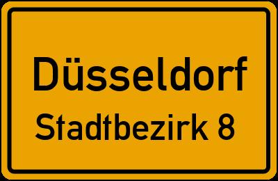 Ortsschild Düsseldorf Stadtbezirk 8