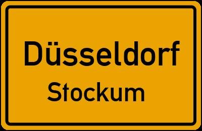 Ortsschild Düsseldorf Stockum