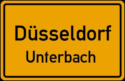 Ortsschild Düsseldorf Unterbach