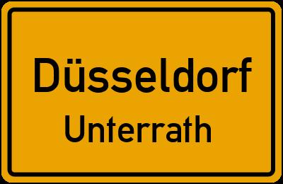 Ortsschild Düsseldorf Unterrath