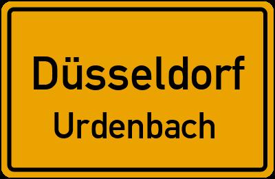Ortsschild Düsseldorf Urdenbach