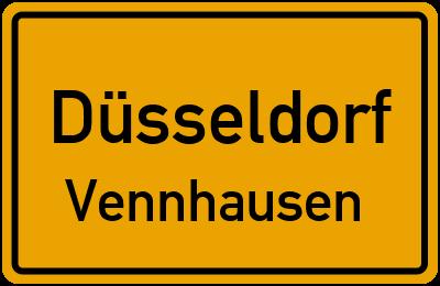 Ortsschild Düsseldorf Vennhausen