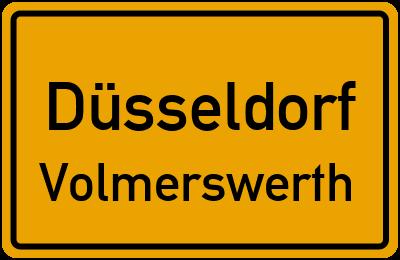 Ortsschild Düsseldorf Volmerswerth