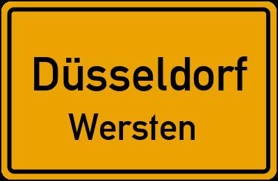 Ortsschild Düsseldorf Wersten