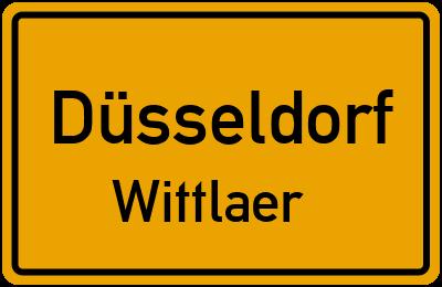 Ortsschild Düsseldorf Wittlaer