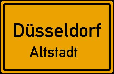 Ortsschild Düsseldorf Altstadt