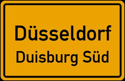 Straßenverzeichnis Düsseldorf Duisburg Süd