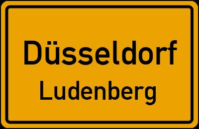 Ortsschild Düsseldorf Ludenberg