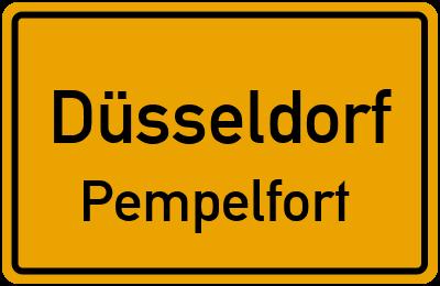 Ortsschild Düsseldorf Pempelfort