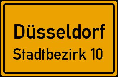 Straßenverzeichnis Düsseldorf Stadtbezirk 10