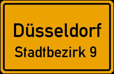Straßenverzeichnis Düsseldorf Stadtbezirk 9