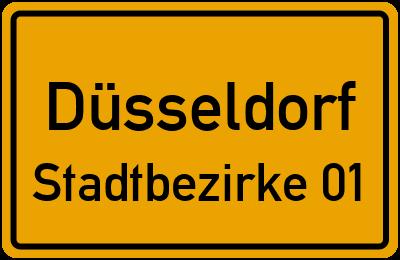 Straßenverzeichnis Düsseldorf Stadtbezirke 01
