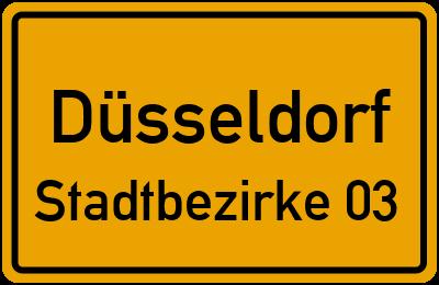Ortsschild Düsseldorf Stadtbezirke 03